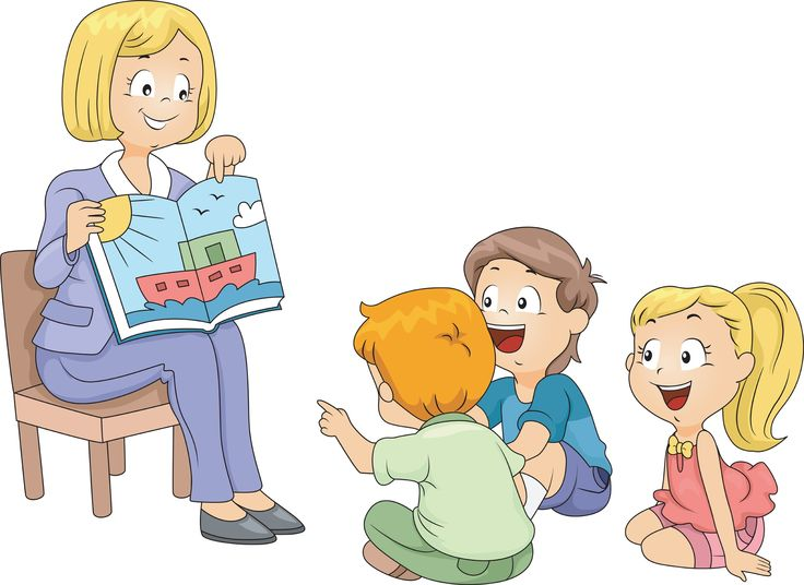 Kindergarten for preschool on. Storytime clipart daycare teacher