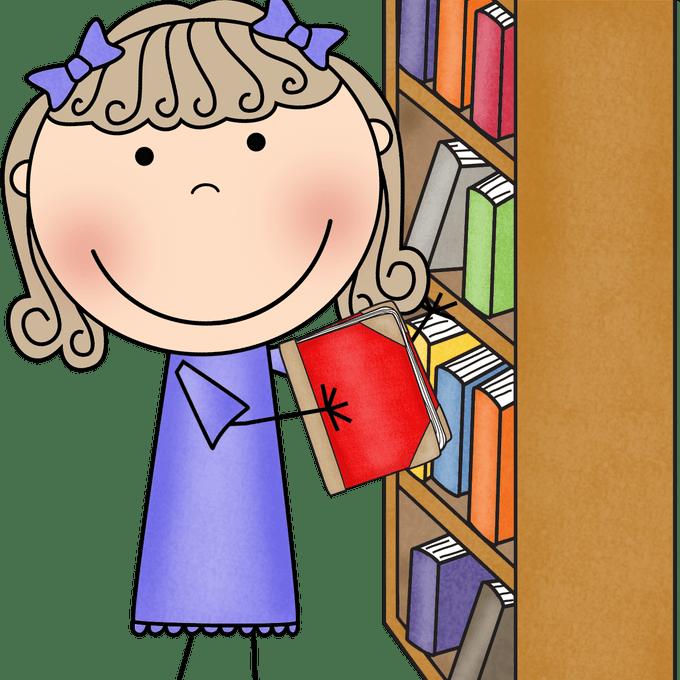 Clipart teacher library. Classroom clip art shelves