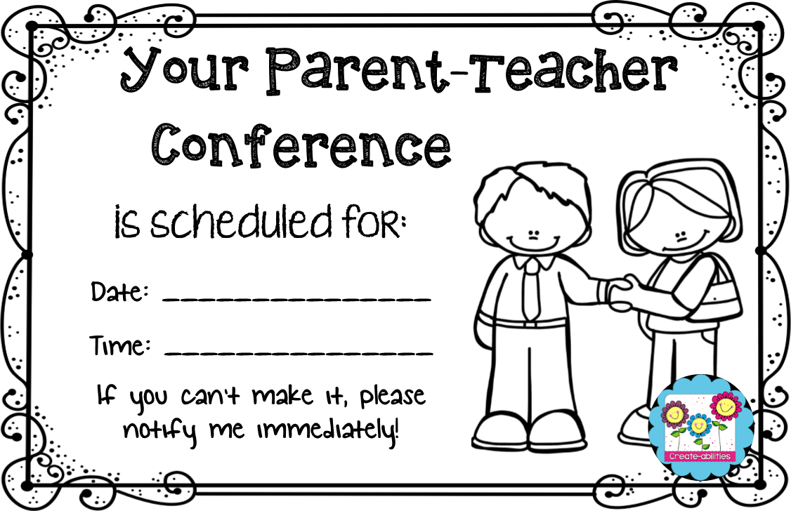 collection of parent. Conference clipart reminder