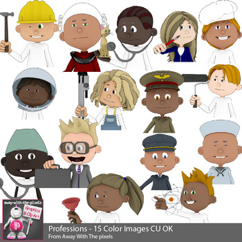 Jobs clipart teacher. Professions clip art for