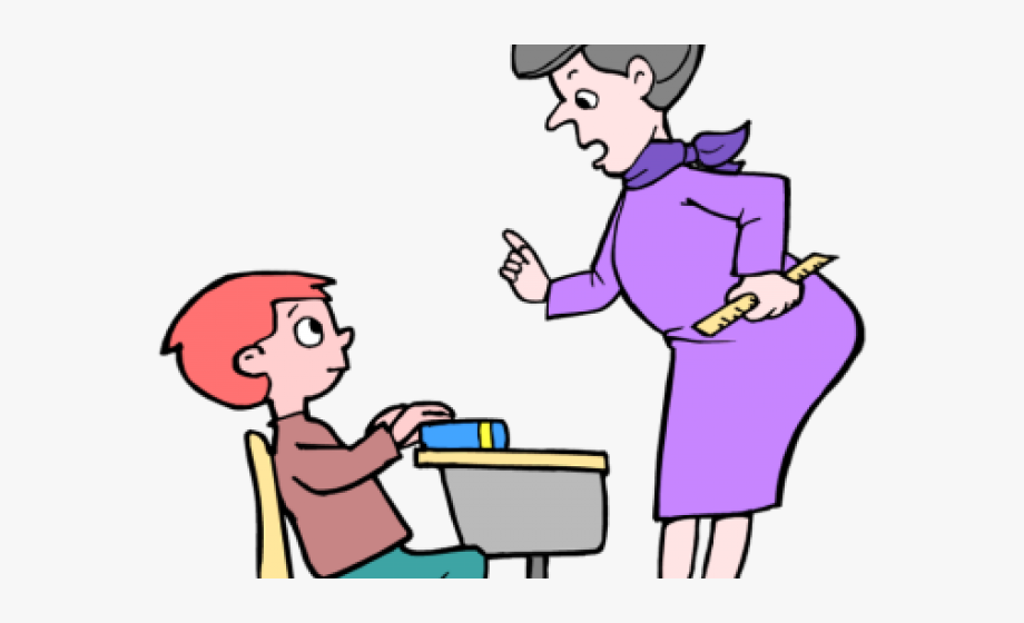 Clipart teacher student. Hallway interaction and