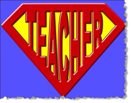 Pin on superheroes . Clipart teacher superhero