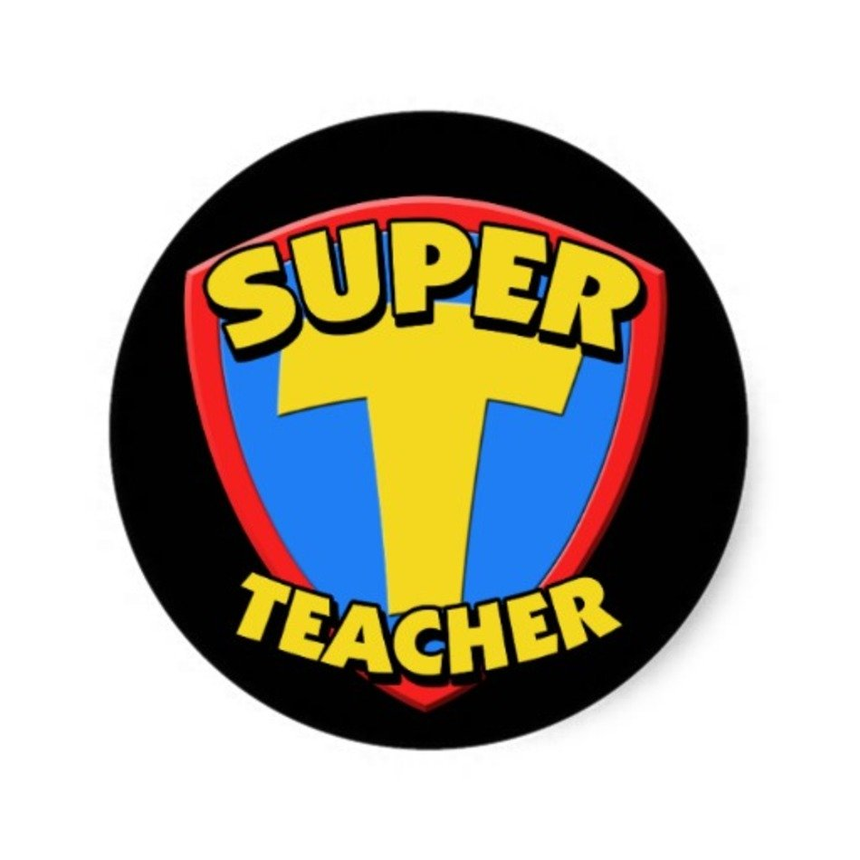 Clip art free image. Clipart teacher superhero