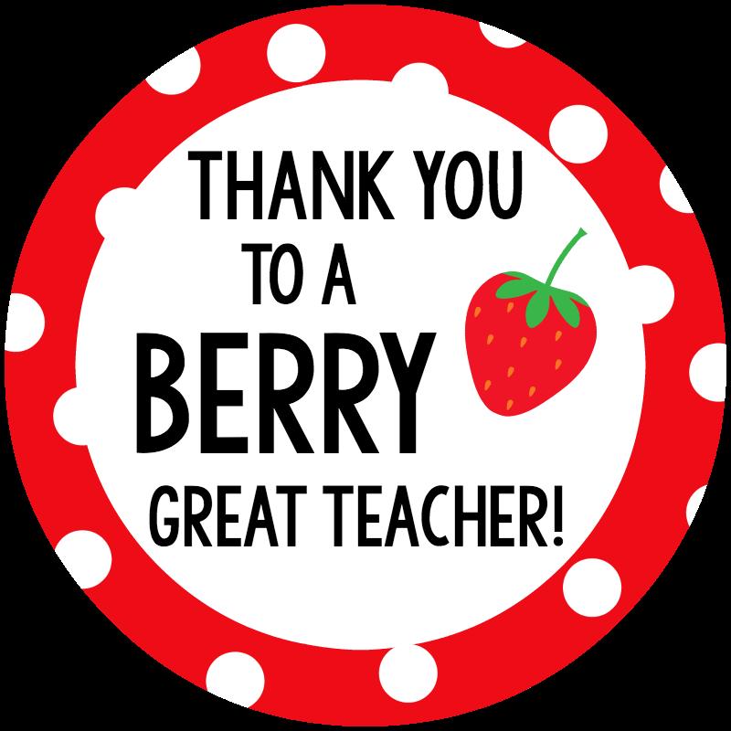 Clipart teacher thank you. Berry gift idea for