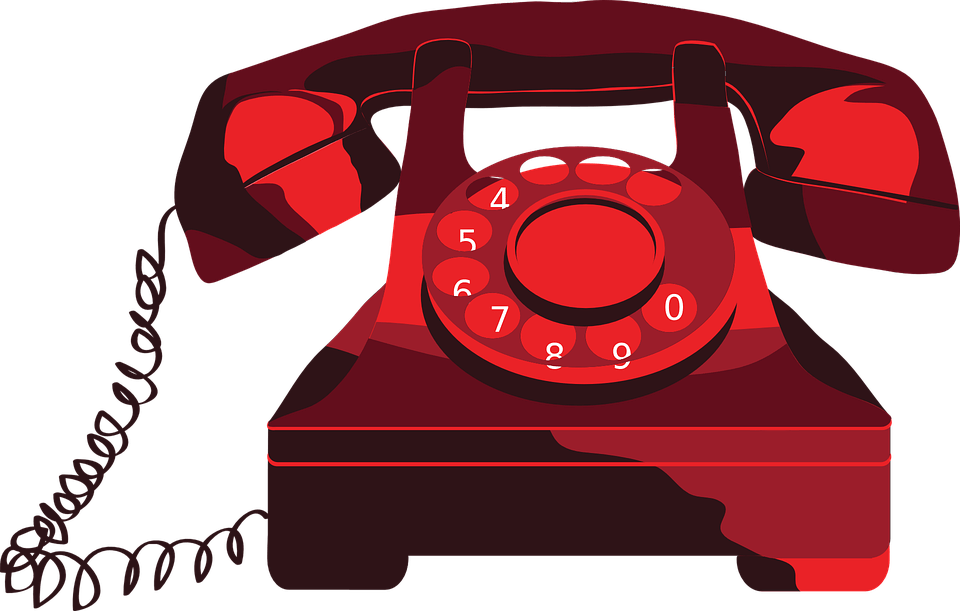 Red telephone transparent png. Phone clipart corded phone