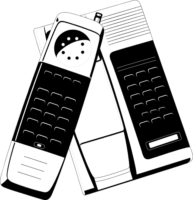 Free black and white. Telephone clipart friend