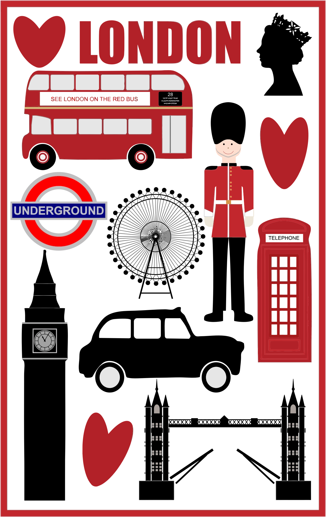 Symbols all about icons. London clipart red telephone box