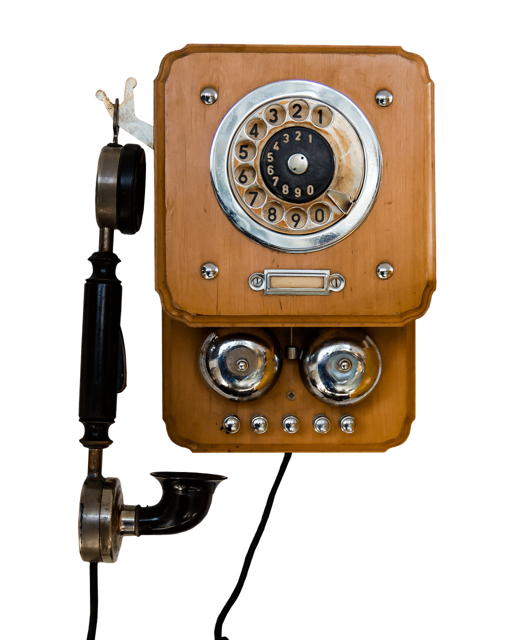 Vintage mounted on wall. Clipart telephone antique telephone