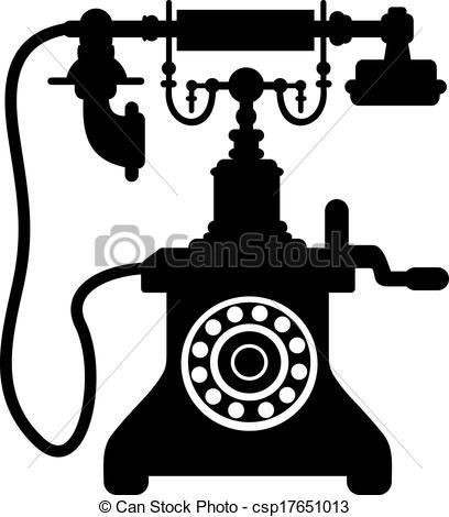 Portal . Clipart telephone antique telephone