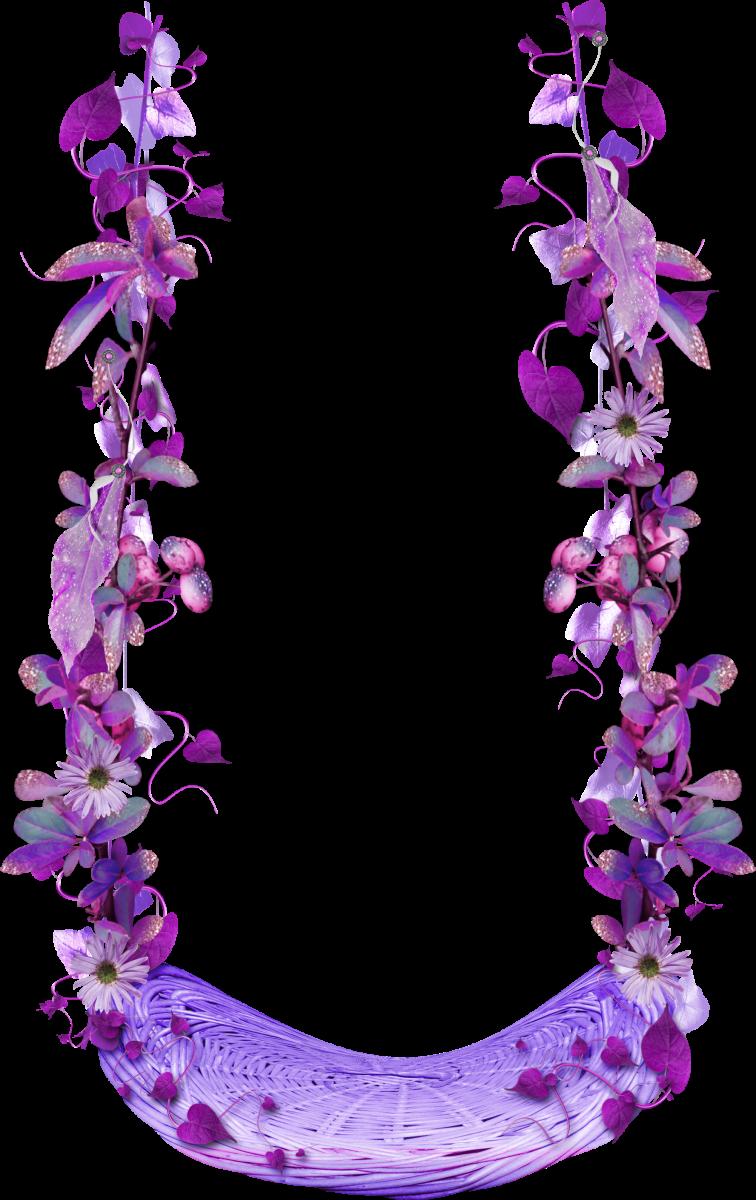 Gears clipart border. Purple floral swing frames