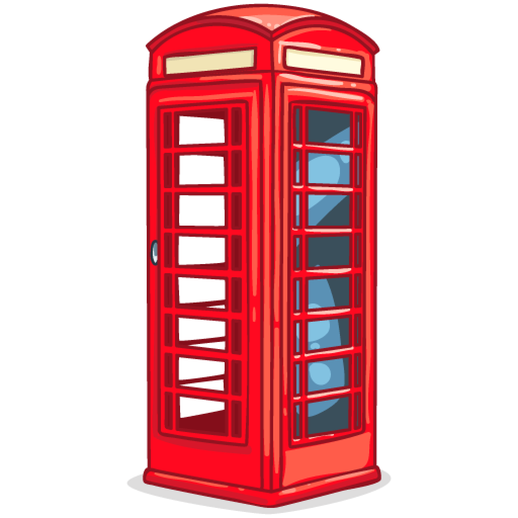 Phone booth png image. London clipart red telephone box