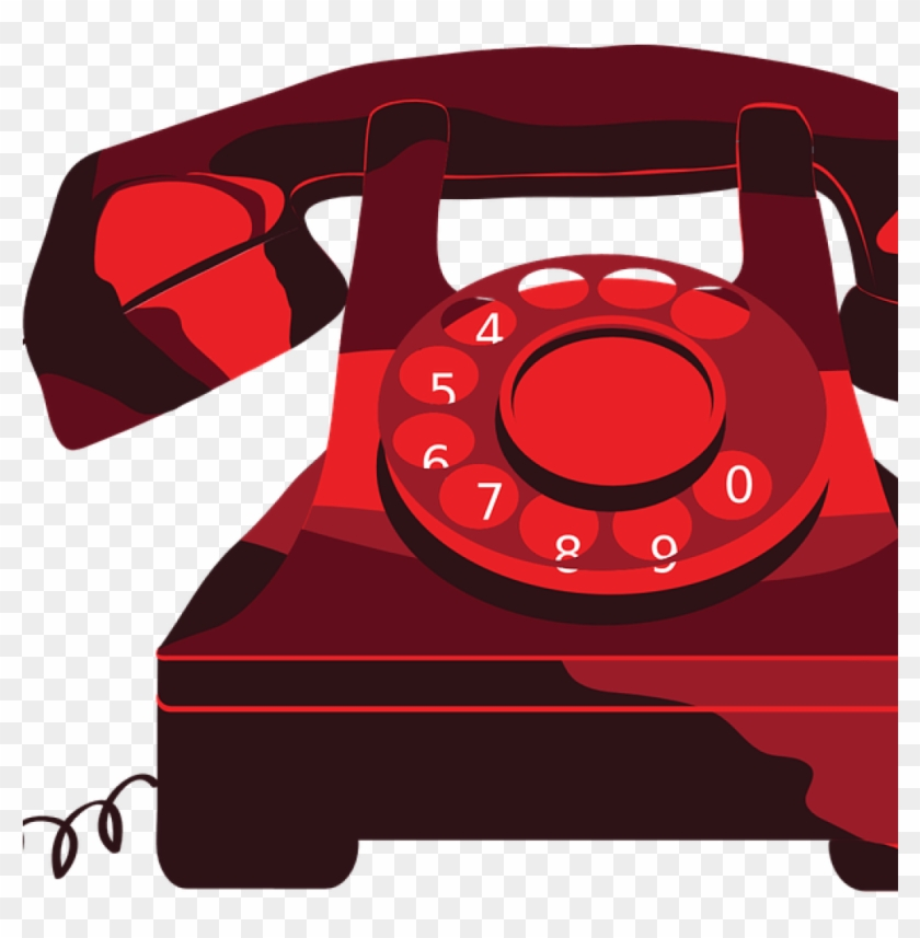 Clipart telephone clear background phone. Download free png red