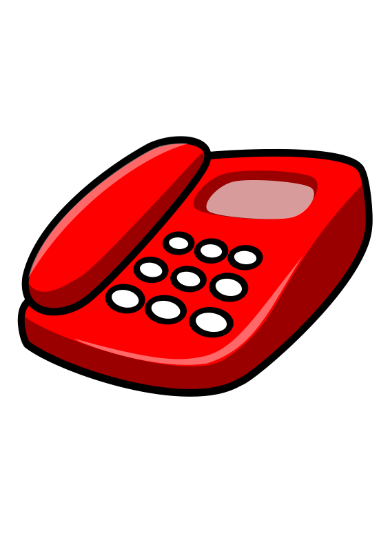 Free stock photo illustration. Telephone clipart red telephone