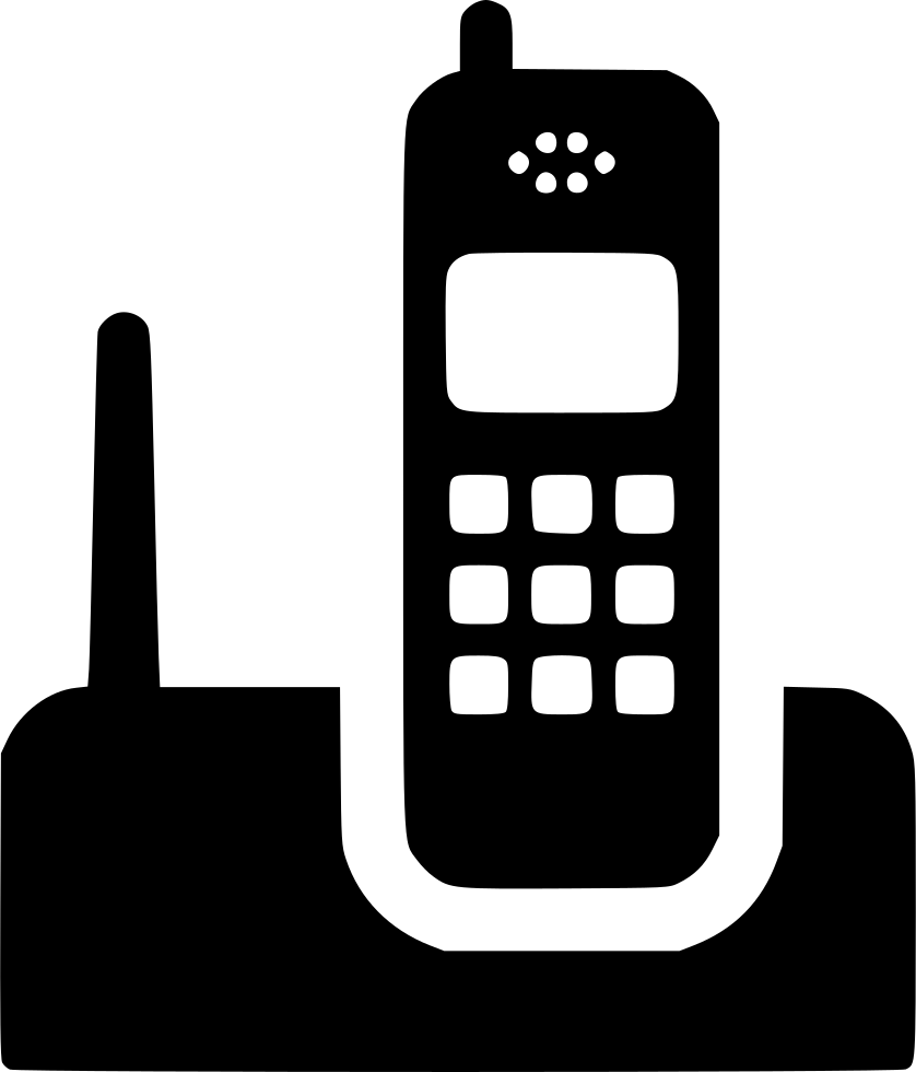 Telephone clipart cordless telephone. Svg png icon free