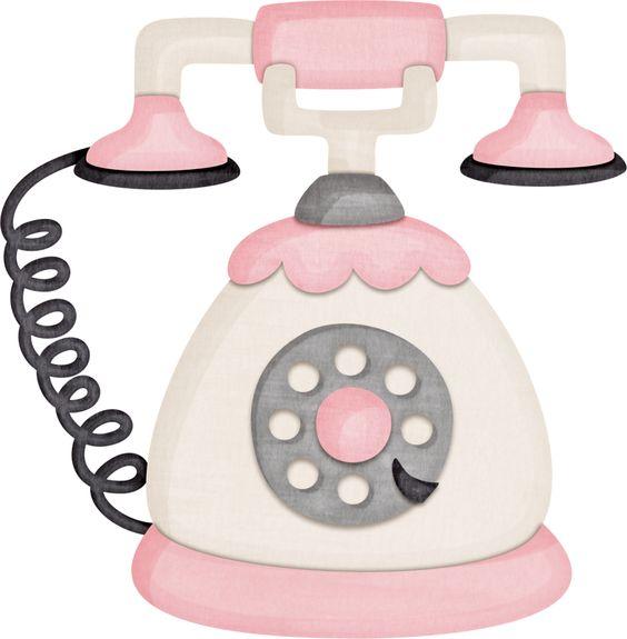 Telephone clipart cute. Phone clip art library