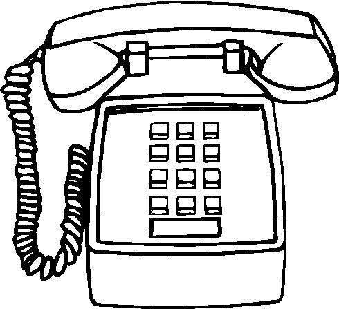 Free download best . Telephone clipart line drawing