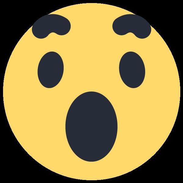 Facebook wow emoticon icon. Clipart telephone emoji