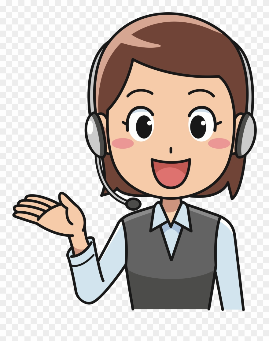 Call center agent png. Clipart telephone female person