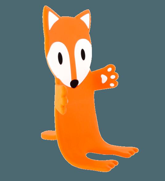 Ani stand holder fox. Telephone clipart phone orange