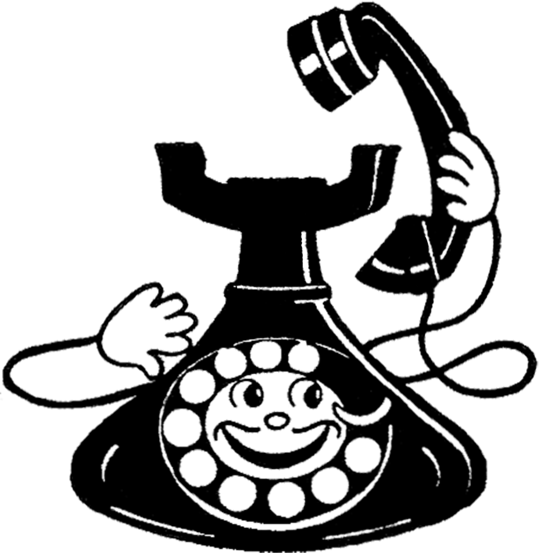vintage images the. Telephone clipart fun