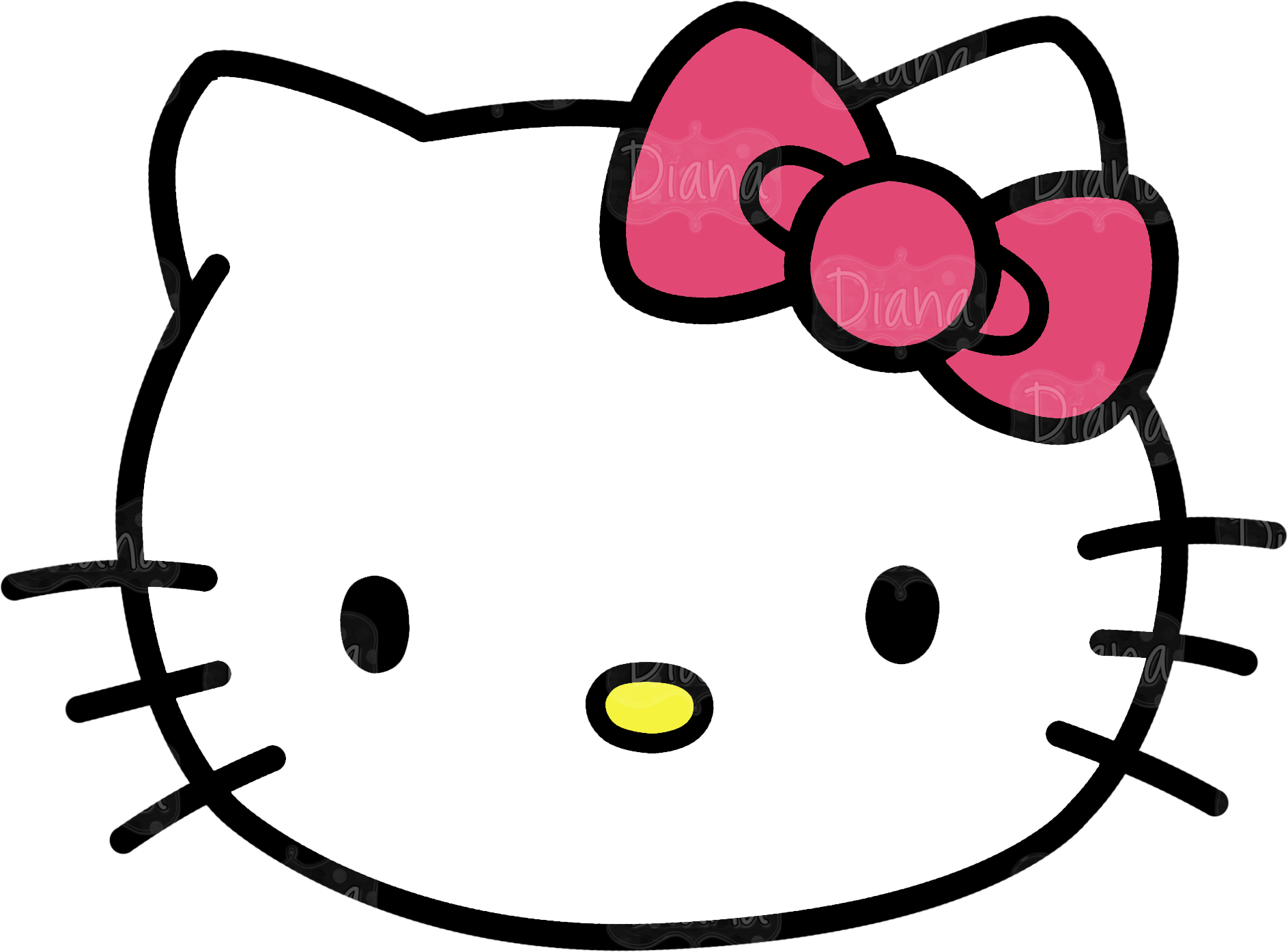 Kitty head pictures transparentpng. Telephone clipart hello