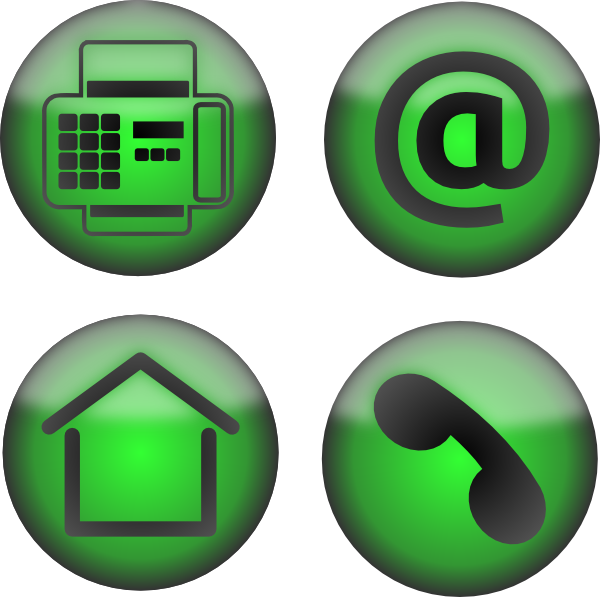 Fax At Home Phone Icons Clip Art at Clker