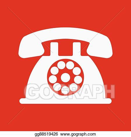Telephone clipart hotline. Clip art vector the
