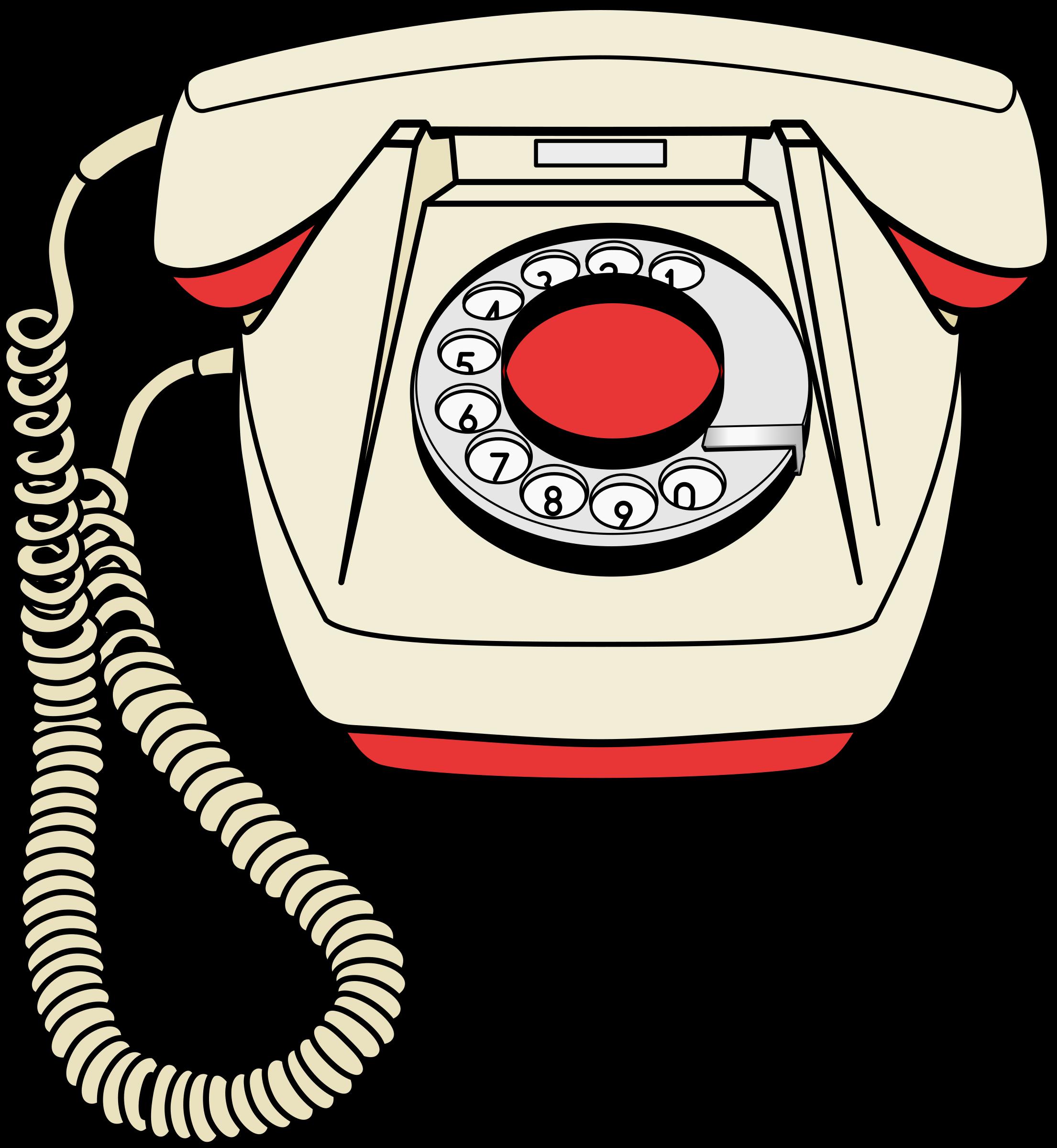 Telephone set bs big. Phone clipart rotary phone