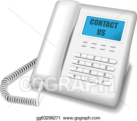 Eps vector white stock. Telephone clipart modern telephone