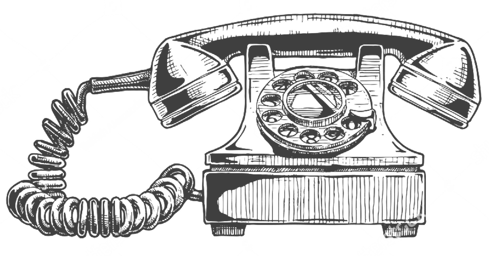 Bond contact. Telephone clipart old fashion
