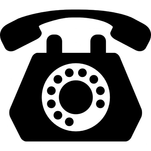 Clipart telephone old school. Black icon of fashioned