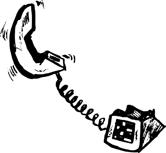 Free pictures handset images. Clipart telephone outline