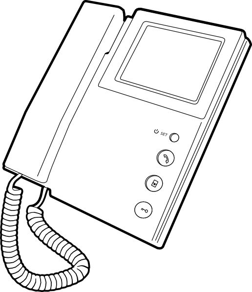 Voip clip art at. Clipart telephone outline