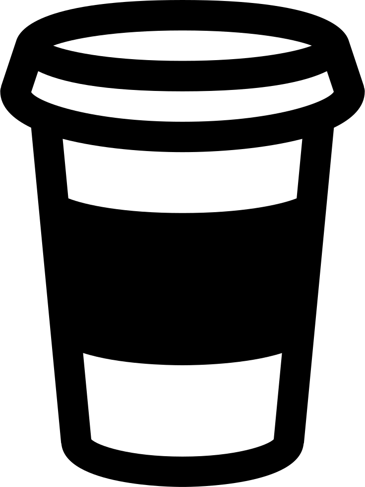 Telephone clipart paper cup. Coffee svg png icon