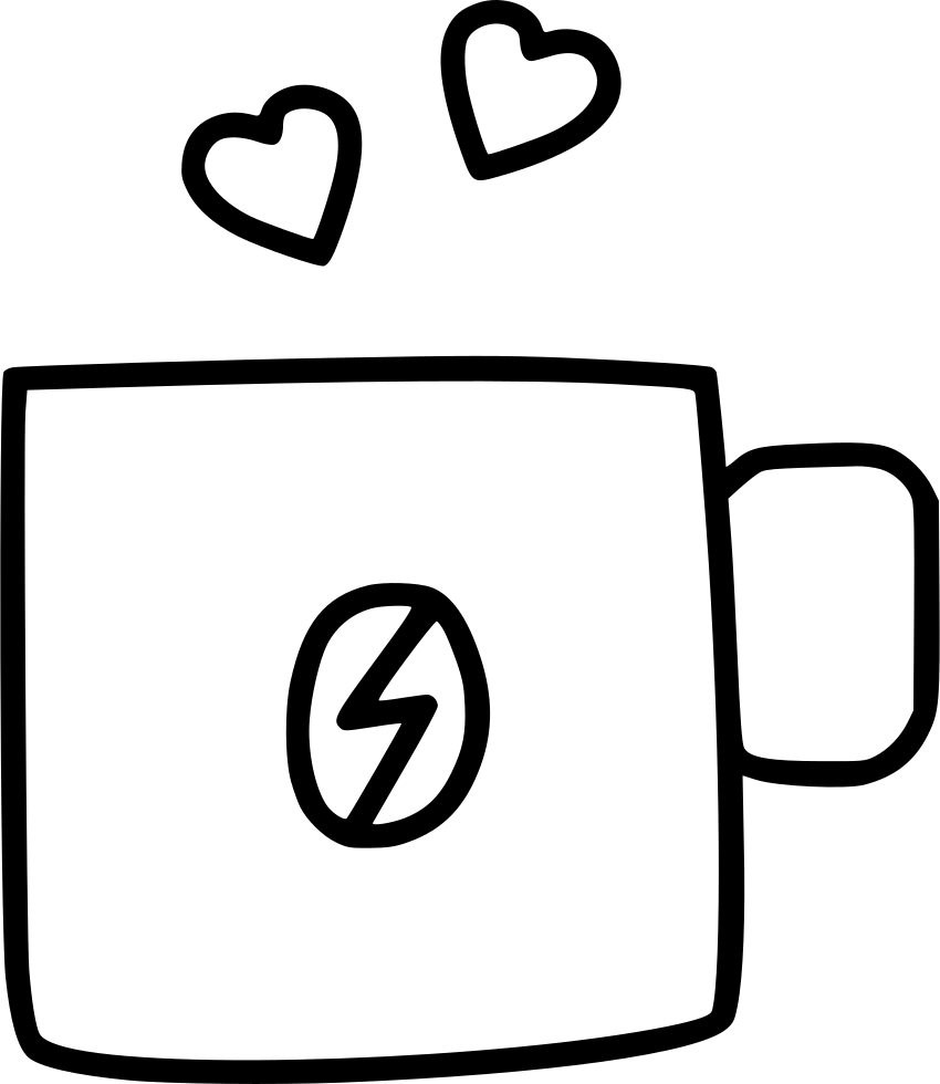 Telephone clipart paper cup. Coffee day heart svg
