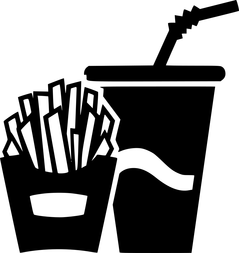 French fries potato soda. Telephone clipart paper cup