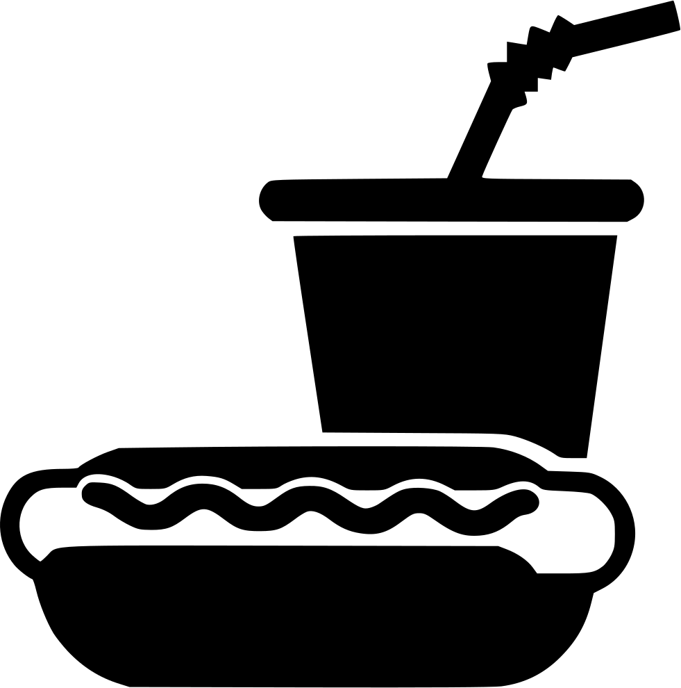 Hot dog sausage soda. Telephone clipart paper cup