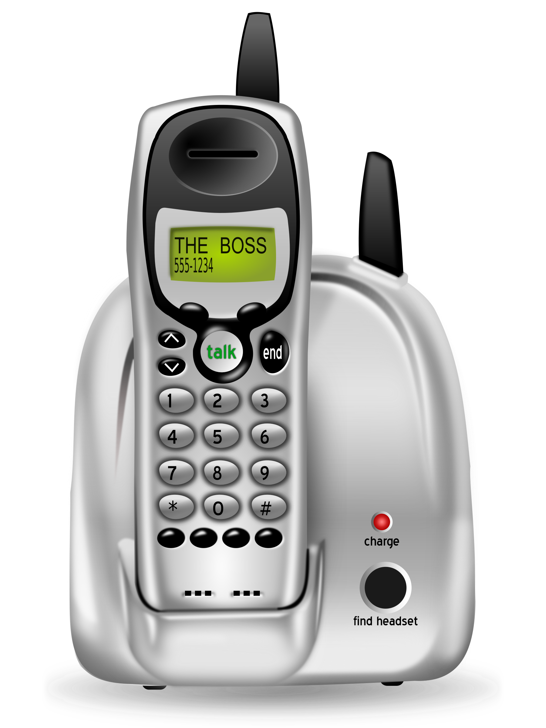 Phone clipart phone conference. Cordless big image png