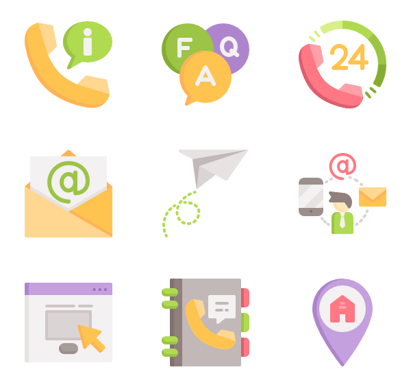 Book icons free vector. Clipart telephone phone directory