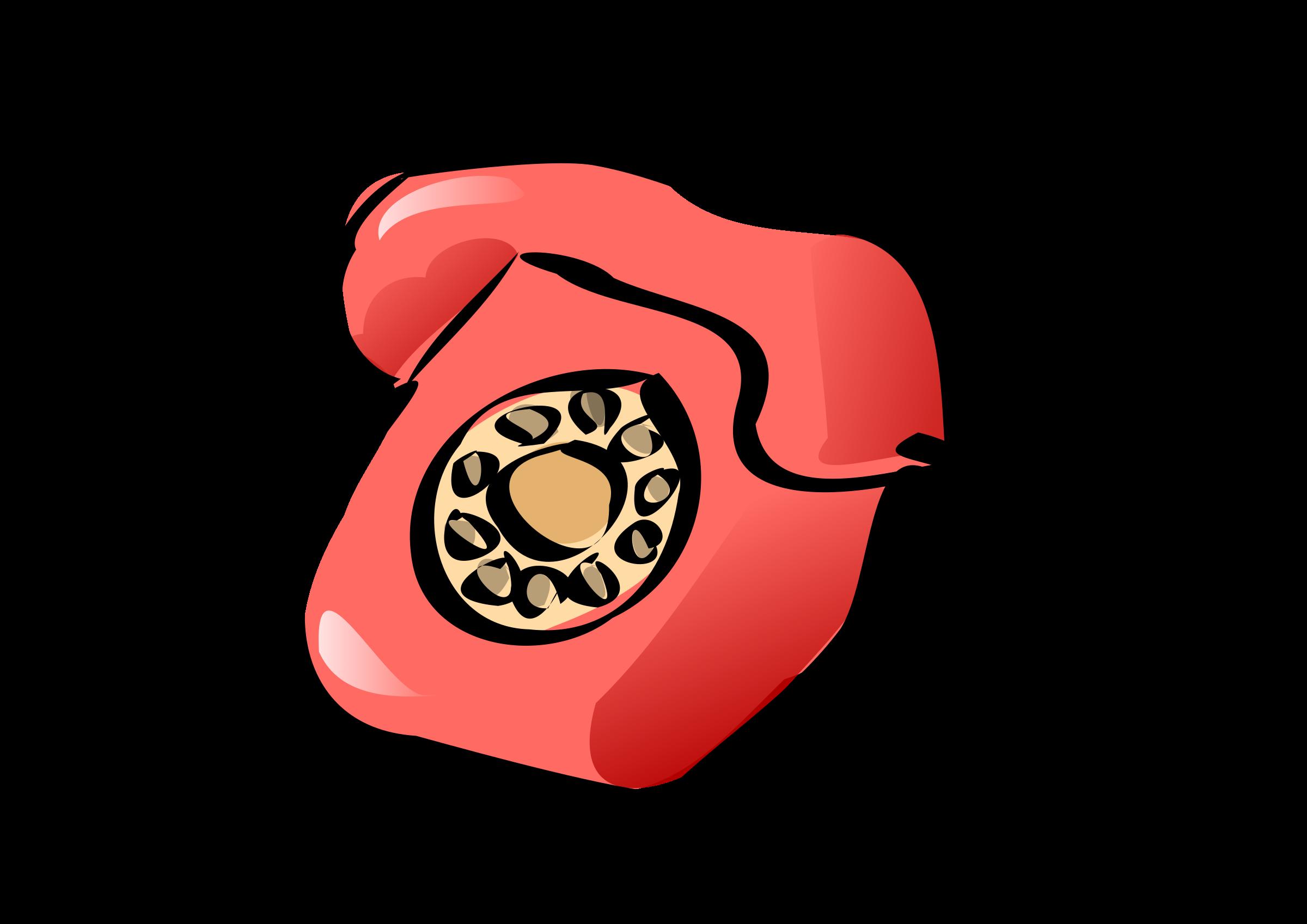 Telephone clipart telephony. Classic phone zazou big