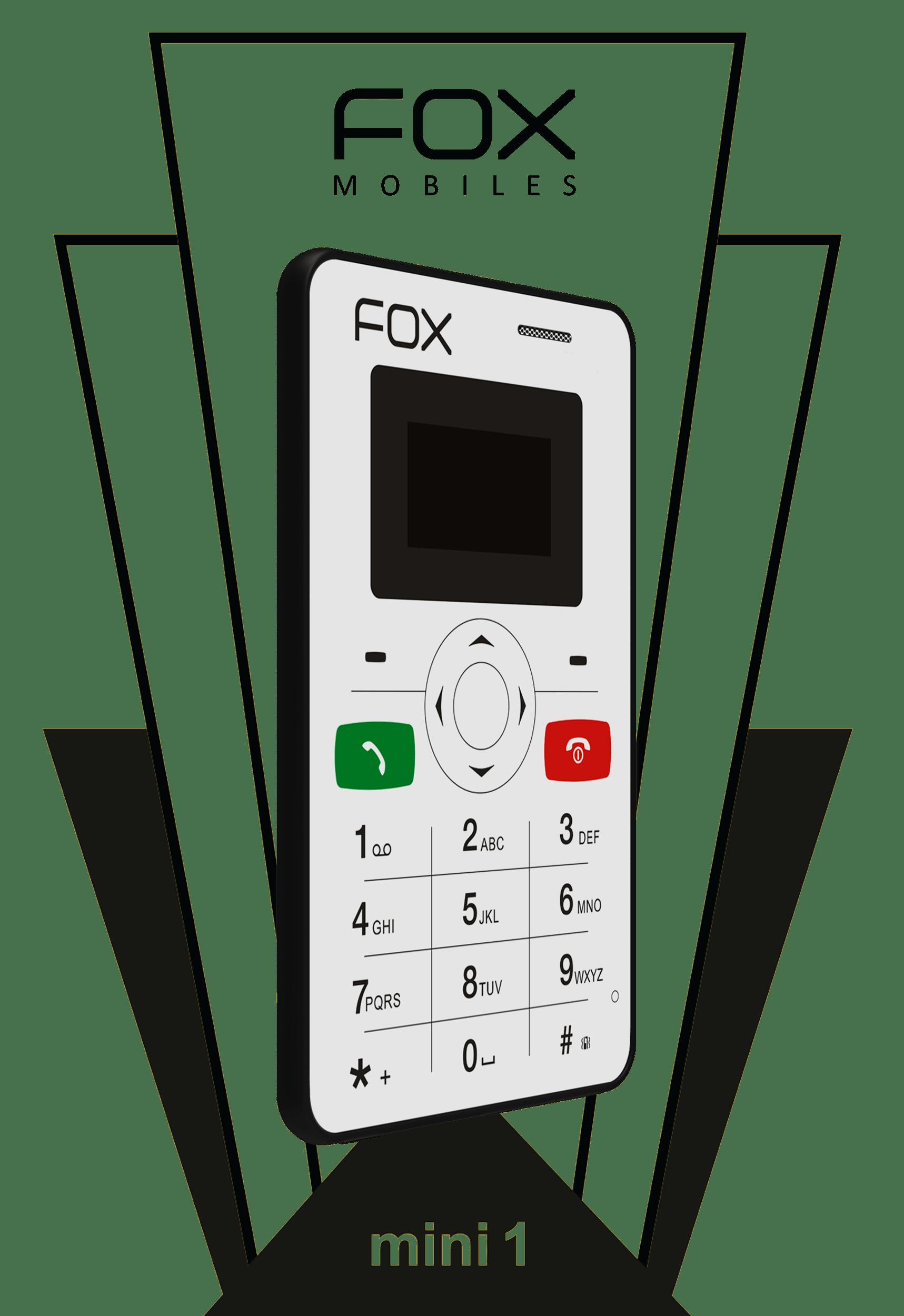 Telephone clipart phone handle. Mini fox mobiles handset