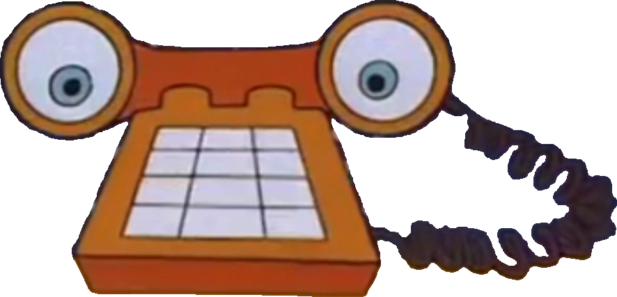 Telephone clipart phone orange. The brave little toaster