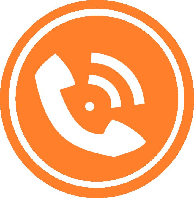 Logos . Telephone clipart phone orange
