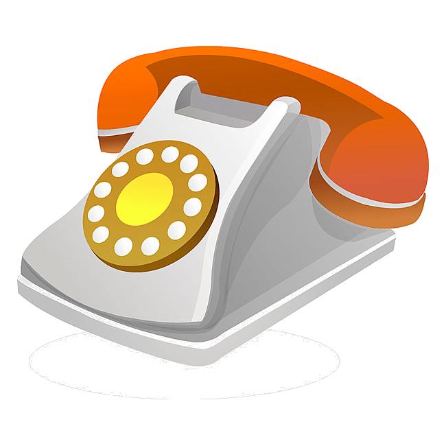 Symbol icon transprent png. Telephone clipart phone orange