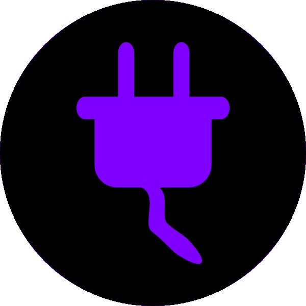 Electricity black clip art. Clipart telephone purple