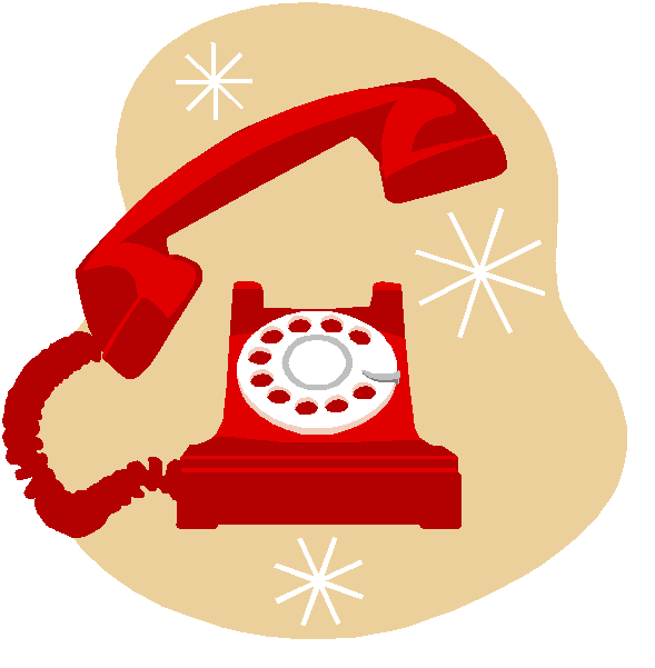 Clipart telephone rang. Past simple and continuous