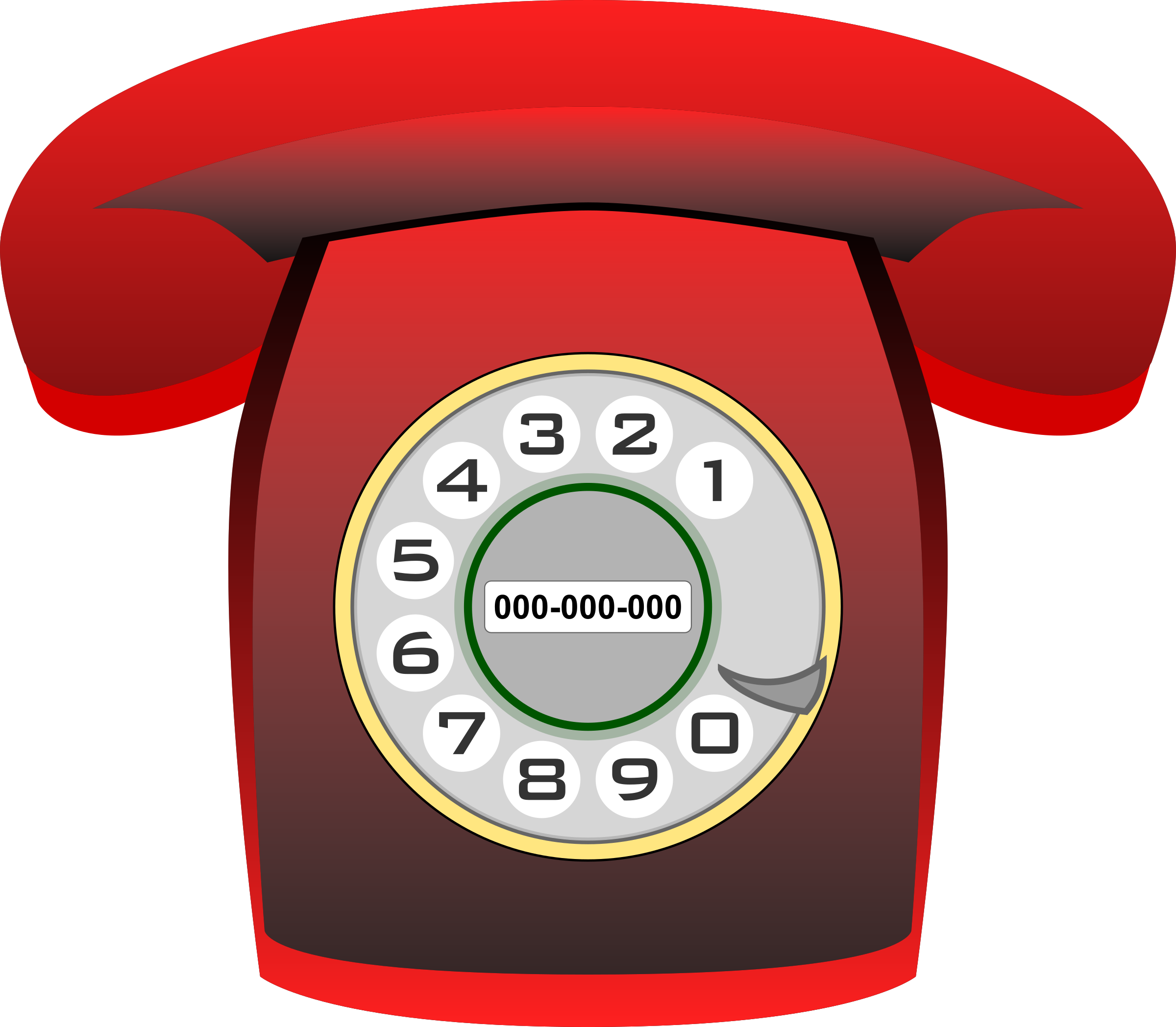 Red clip art home. Telephone clipart rang