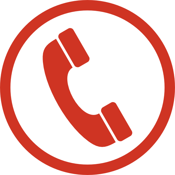 Monochrome phone icon clip. Telephone clipart red telephone