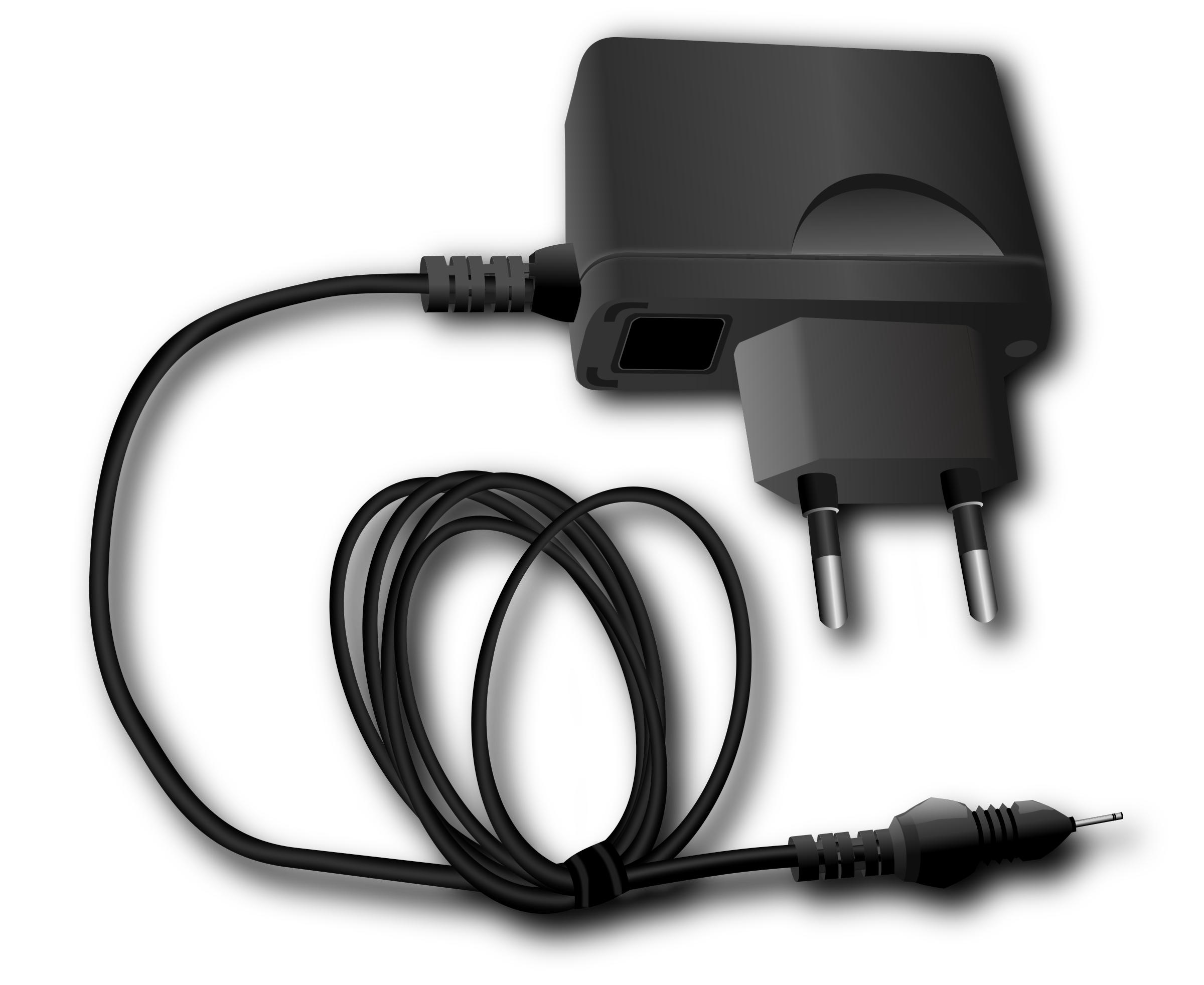 Electricity clipart computer charger. Telephone remixed big image