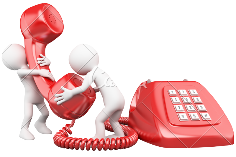 d people talking. Telephone clipart small telephone